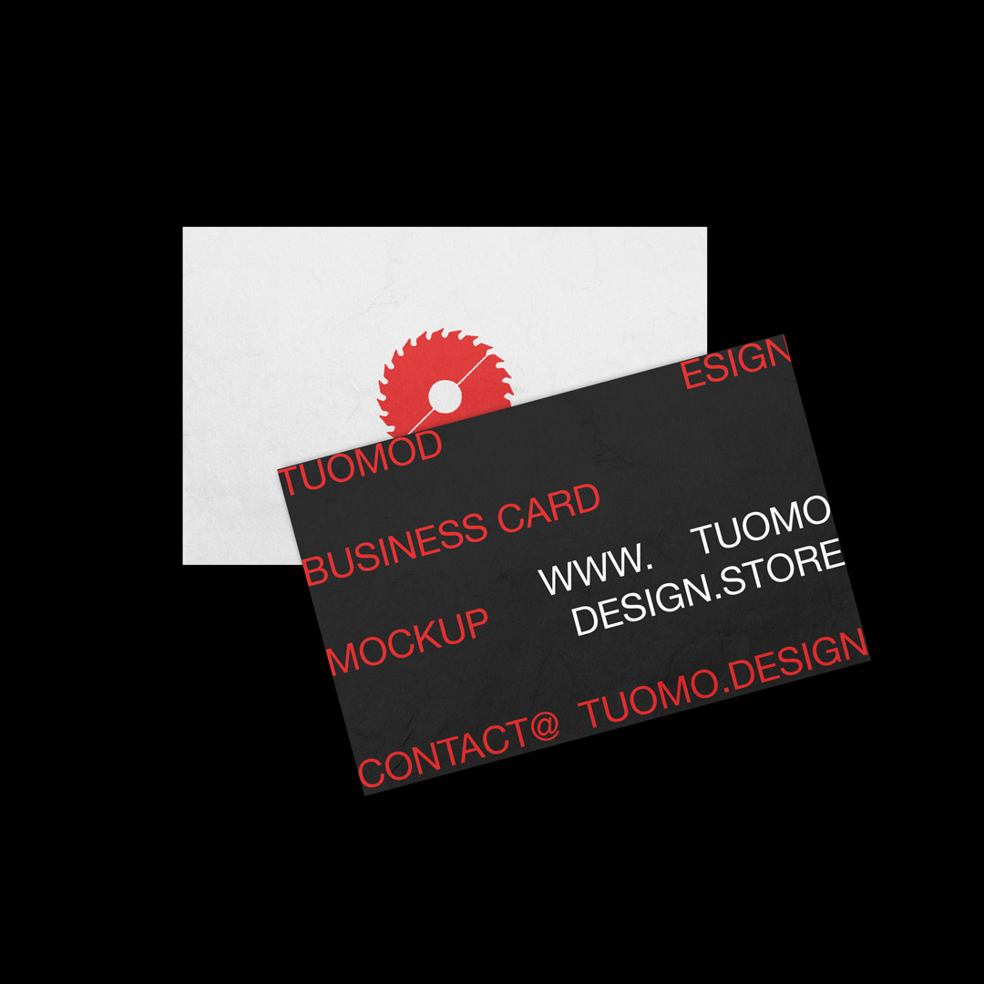 TuomoDesign Business Card Mockup